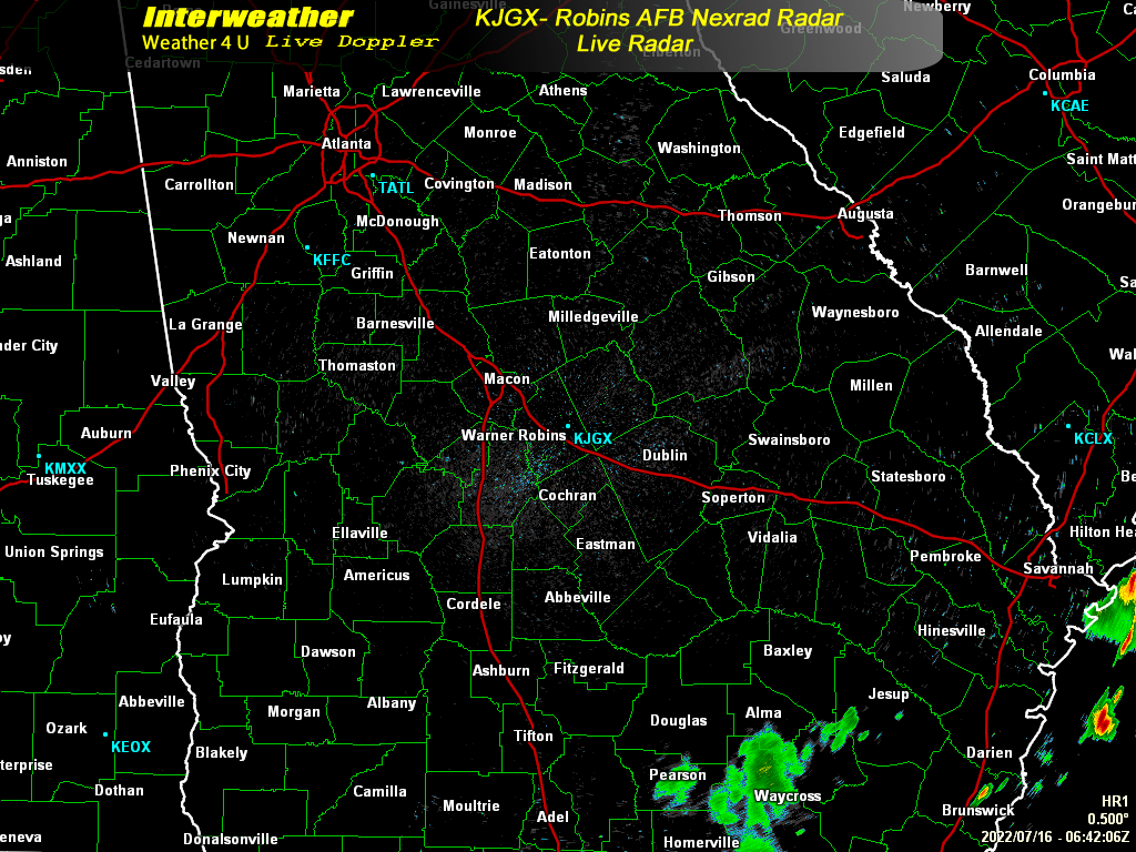 KJGX-Robins Nexrad Radar - Interweather-Weather 4 U